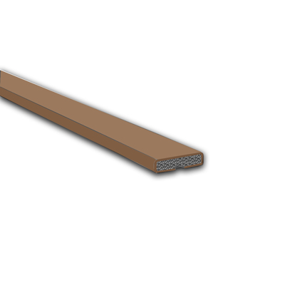 Fire Only Intumescent Strip - 15 x 4 x 2100mm - Plain - Brown - Pack 10)