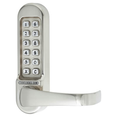 Codelocks CL500 Mechanical Panic Access Lock - Satin Chrome)