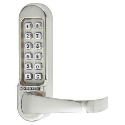 Codelocks CL500 Mechanical Panic Access Lock - Satin Chrome)