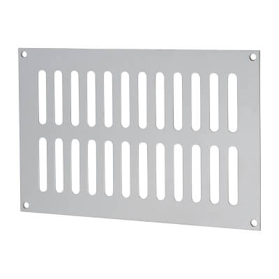 Plain Slotted Vent - 229 x 152mm - 8170mm2 Free Air Flow - Satin Stainless Steel