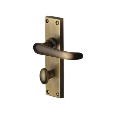 M Marcus Windsor Door Handle - Bathroom Set - Antique Brass