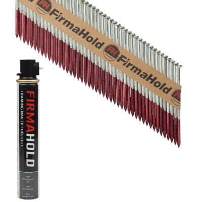 TIMco 34° FirmaHold Clipped Head Nail and Gas - First Fix - 3.1 x 75mm - FirmaGalv - 1 Fuel Cel