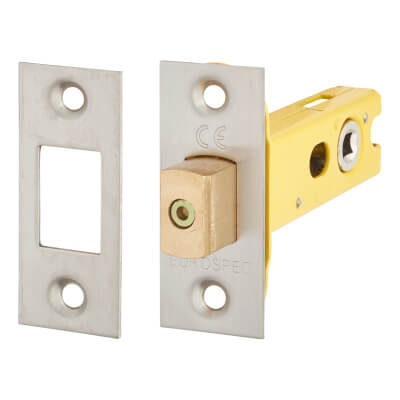 Altro 5mm Tubular Bathroom Deadbolt - 76mm Case - 57mm Backset - Satin Stainless)