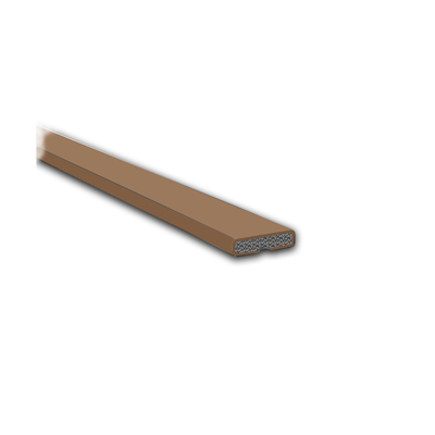 Fire Only Intumescent Strip - 10 x 4 x 2100mm - Plain - Brown - Pack 10