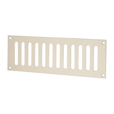 Plain Slotted Vent - 229 x 76mm - 4085mm2 Free Air Flow - Polished Stainless Steel