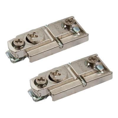 Blum CLIP Expando Mounting Plate - 0mm Spacing -  Zinc Diecast - Pair