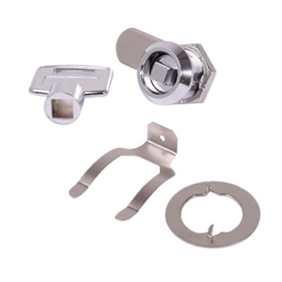 Square Key Cam Lock - 19 x 20mm - Chrome Plated