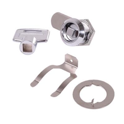 Square Key Cam Lock - 19 x 20mm - Chrome Plated