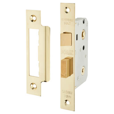 ERA® Bathroom Lock - 76mm Case - 56mm Backset - Brass Effect