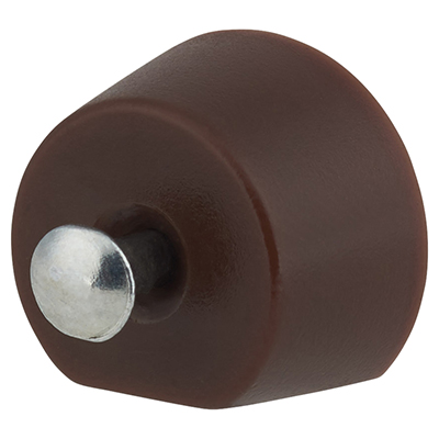 Flat Sided Pin Shelf Support - 15mm - Brown
