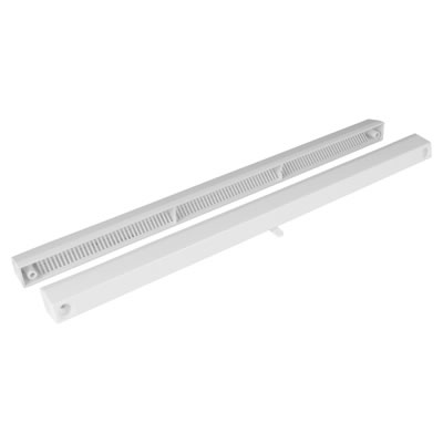 Slotvent 4000 S With Bottom Operation Switch - White - uPVC / Timber