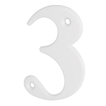 76mm Numeral - 3 - White