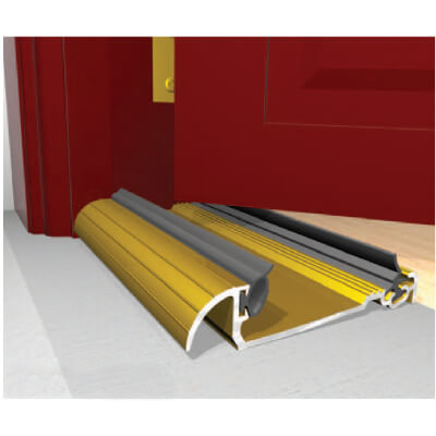 Exitex Low Height Macclex Threshold - 1829mm - Thick Inward Opening Doors - Gold