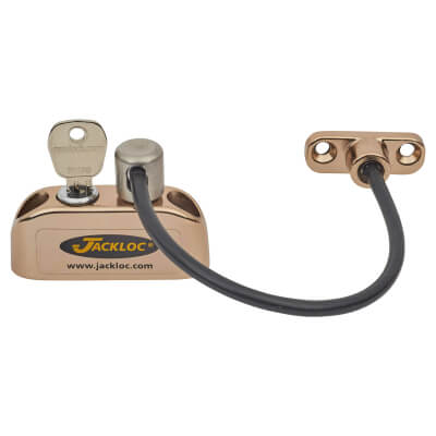 Jackloc Cable Window Restrictor - Brass)