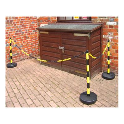 Yellow / Black Post & Base - Pack 2
