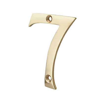 76mm Numeral - 7 - Polished Brass