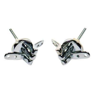 Toilet Seat Hinge - 57 x 32mm - Chrome