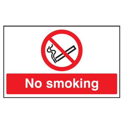 No Smoking - 300 x 500mm - Rigid Plastic)