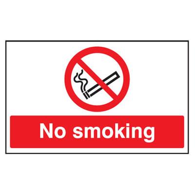 No Smoking - 300 x 500mm - Rigid Plastic