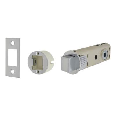 UNION JFL27 FastLatch Tubular Push-Fit Bathroom Deadbolt - 73mm Case - 57mm Backset - Polished Chro