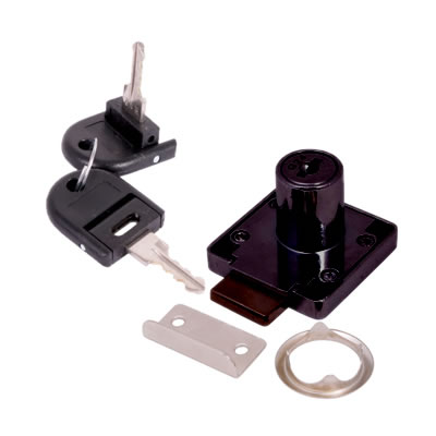 Cylinder Deadbolt - 19 x 22mm - Keyed Alike - Differ 1 - Black Nickel)