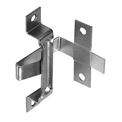 Plinth Fixing Bracket - 74 x 40 x 40 x 43 x 12.7mm - Zinc Plated Steel - Pack 10