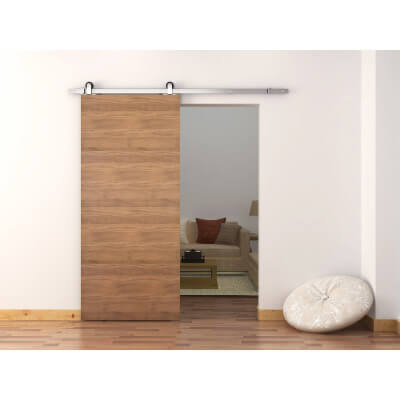 Barrierslide Ivan 2.0 Barn Strap Sliding Door Kit - 2000mm - Satin Stainless Steel)