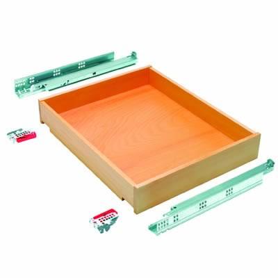 Blum Wooden Drawer Pack - Beech - (W) 398mm x (H) 87mm