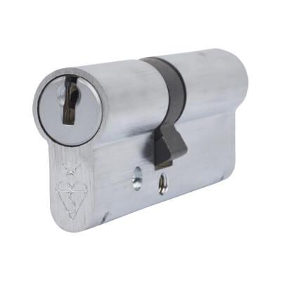 ERA 1 Star Kitemarked Cylinder - Euro Double - Length 80mm - 35 + 45mm - Nickel