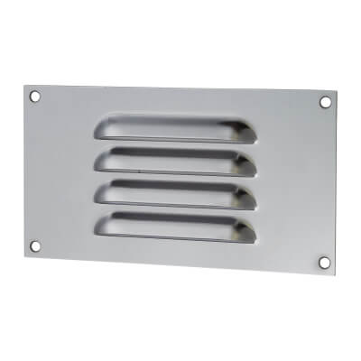 Hooded Louvre Vent - 165 x 89mm - 1672mm2 Free Air Flow - Polished Stainless