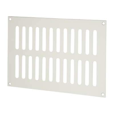 Plain Slotted Vent - 229 x 152mm - 6600mm2 Free Air Flow - Satin Aluminium