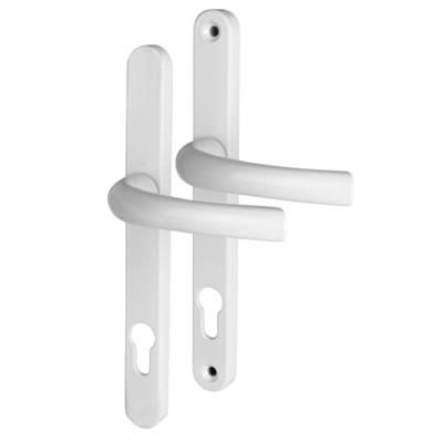 Hoppe Tokyo Multipoint Handle - uPVC/Timber - 92mm centres - 60-70mm door thickness - White)