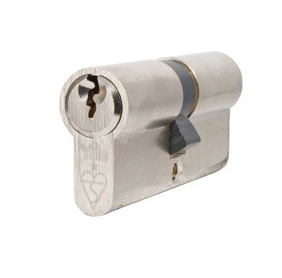 Yale® 1 Star Kitemarked Euro Double Cylinder - Keyed Alike - 35 + 45mm - Nickel Plated