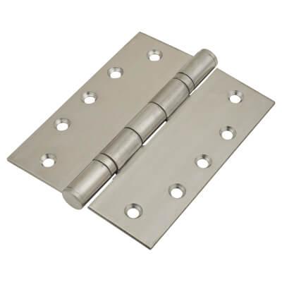 Heavy Duty Ball Bearing Hinge - 127 x 102 x 3mm - Satin Stainless Steel