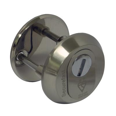 Securefast 2 Star High Security Escutcheon - Single Cylinder - Nickel Plated
