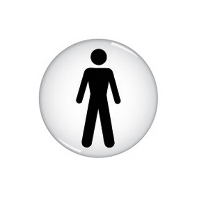 Gents Toilet Sign - Domed - 60mm)