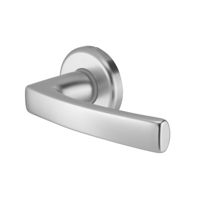 Altro Dubayy Door Handle - Satin Aluminium