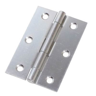 Steel Hinge - 89 x 58mm - Zinc Plated - Pair
