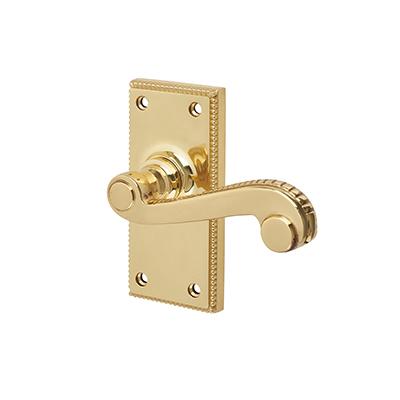 Carlisle Brass St James Georgian Door Handle - Short Latch Set - Polished Brass)