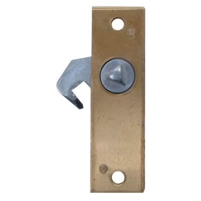 Hook Bolt Budget Lock - 78 x 23mm - Left Hand - Brass