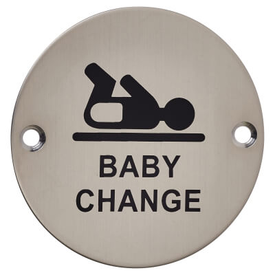 Baby Change - 75mm - Satin Stainless Steel)