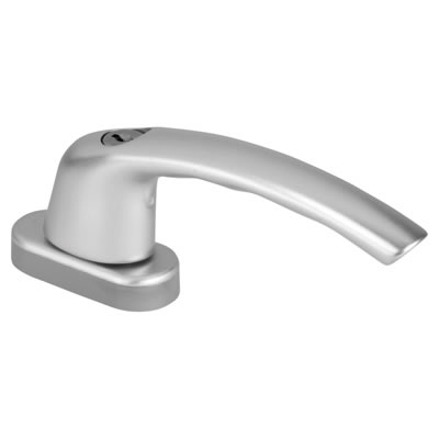 Hoppe Locking Tilt & Turn Handle - uPVC / Timber - Anodised Silver
