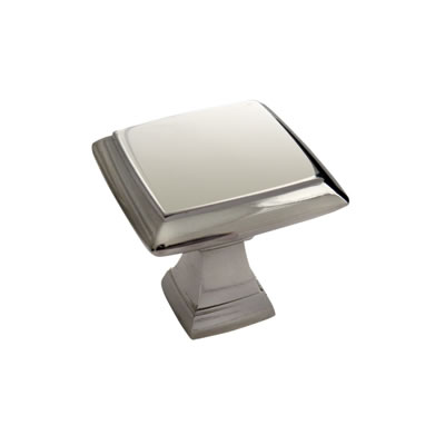 Crofts & Assinder Wellington Mazak Cabinet Knob - 32mm - Polished Nickel
