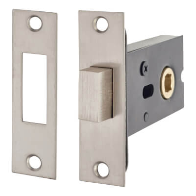 Bathroom Deadlock - 5mm Follower - Stainless Steel)
