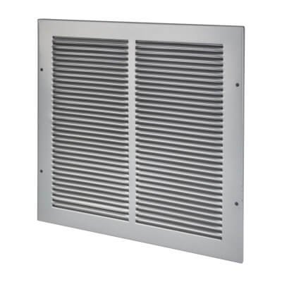Vent Cover - 340 x 340mm to suit block 300 x 300mm - Silver