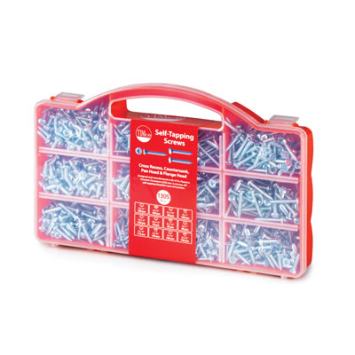 TIMco Self Tapping Mixed Tray - Pack 1305)