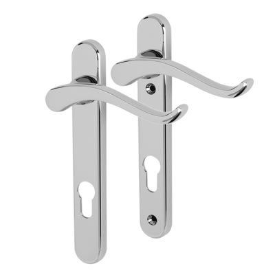 Fab & Fix Windsor Scroll Multipoint Lever/Lever Door Handle - uPVC/Timber - 92mm centres - Right Ha