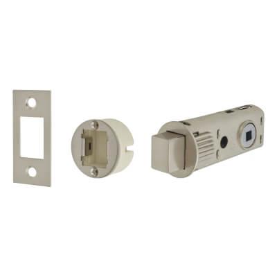 UNION JFL27 FastLatch Tubular Push-Fit Bathroom Deadbolt - 60mm Case - 44mm Backset - Satin Nickel