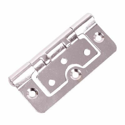 Hurlinge Hinge - 100 x 60 x 2mm - Chrome - Pair