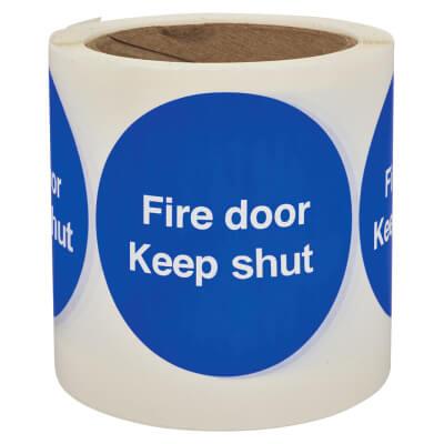 Self Adhesive Vinyl Labels - Fire Door Keep Shut